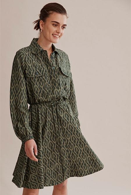 Printed Safari Dress Dresses