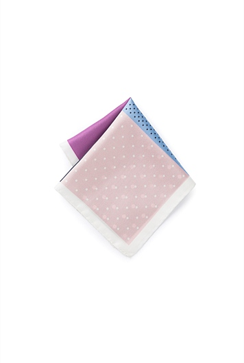 Dotted Four Square Pocket Square