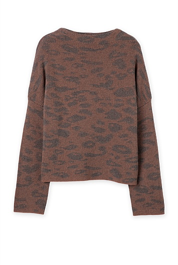 Animal Jacquard Knit
