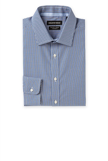Oxford Gingham Travel Shirt
