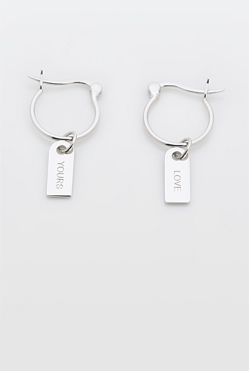 Word Charm Earring