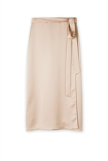Satin Wrap Skirt