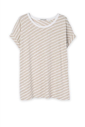Diagonal Stripe T-Shirt