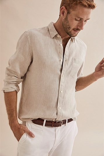 Long Sleeve Irish Linen Shirt