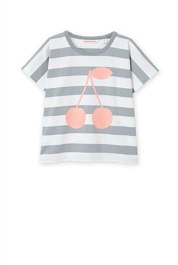 Stripe Cherry T-Shirt