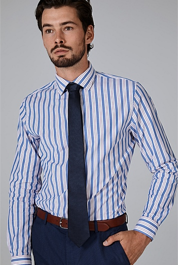 Slim Stripe Stretch Shirt