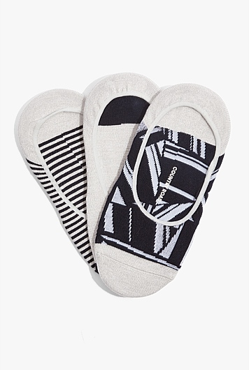 Geometric No Show Sock Pack of 3