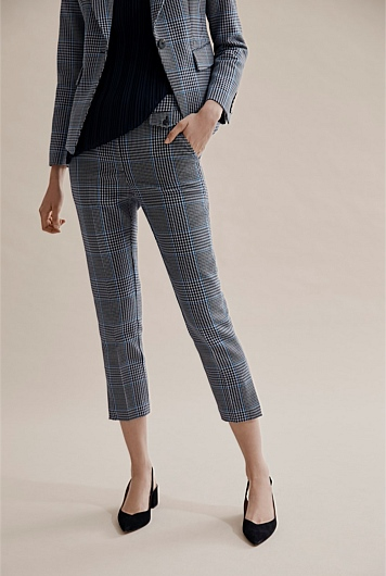 Double Cloth Check Pant