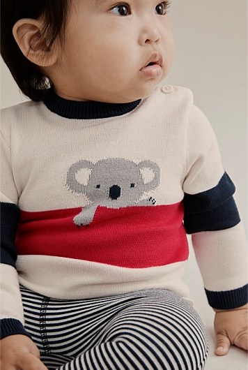 Koala Stripe Knit