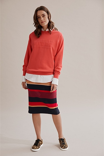 Stripe Rib Tube Skirt