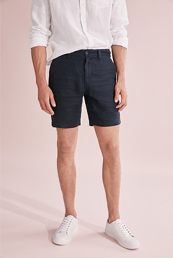 Linen Button Front Short