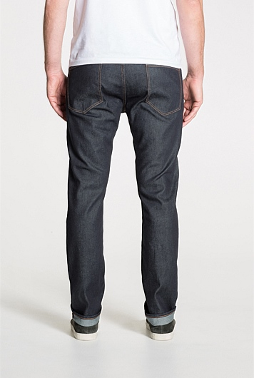 Slim Rich Raw Denim Jean