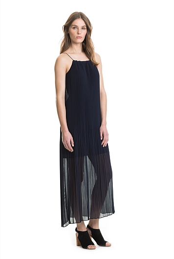 Pleat Maxi Dress