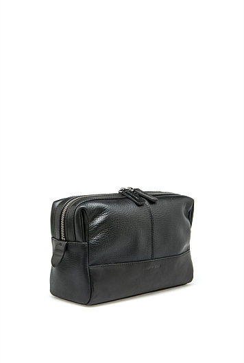 Devoe Leather Wash Bag