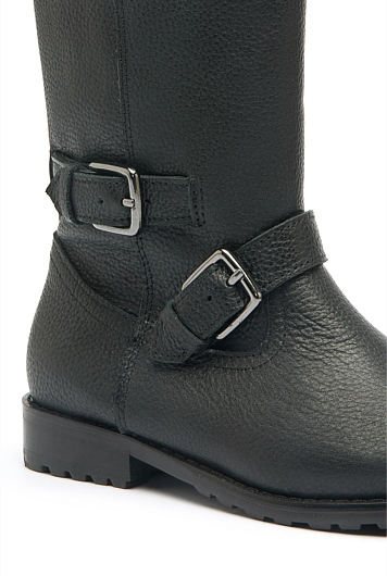 Long Leather Boot