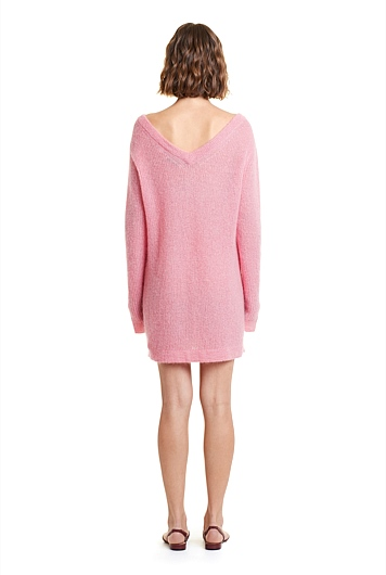 Fluffy V-Back Tunic