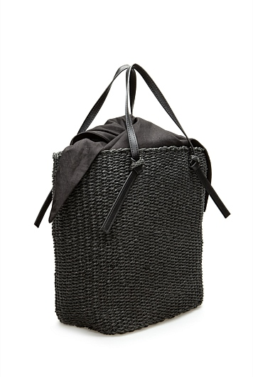 Tie Detail Basket Bag