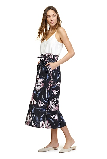 Paper Bag Print Skirt | Tuggl