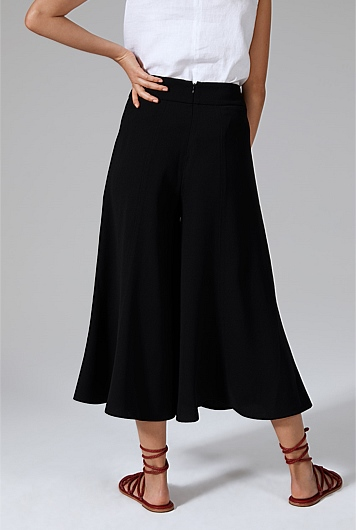 Satin Back Crepe Culotte