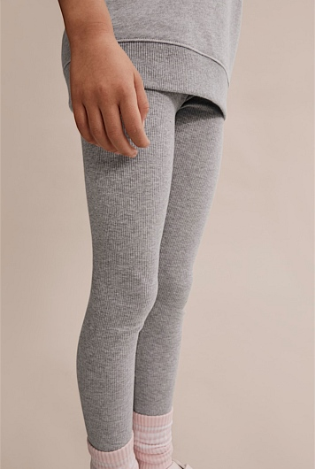 Solid Rib Legging