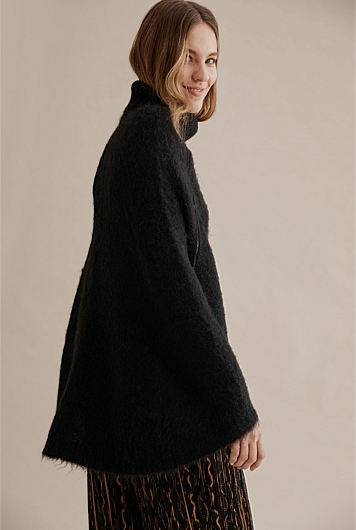 Luxe Fluffy Knit Cape