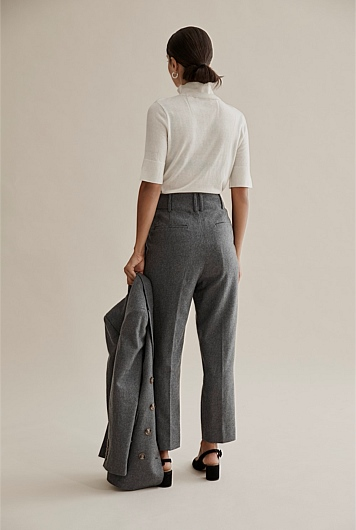 Flannel Pegged Pant