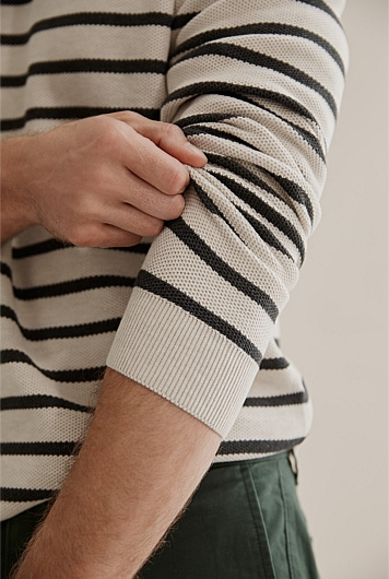 Australian Cotton Stripe Knit