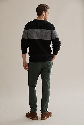 Rick Rack Cotton Crew Knit