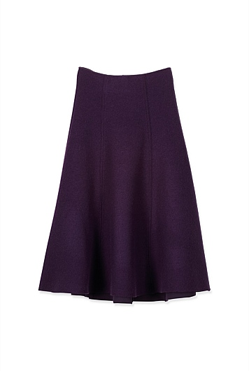 Boiled Wool Skirt