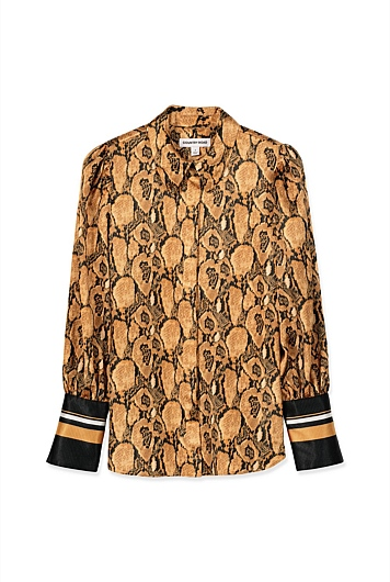 Hammered Snake Print Shirt