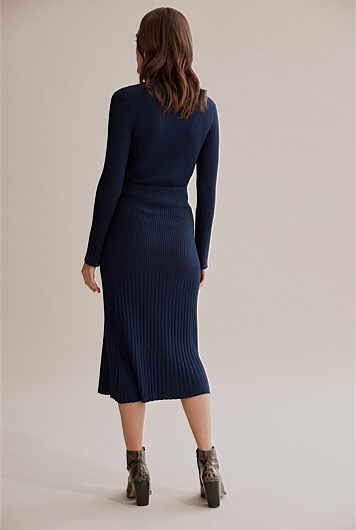 Pleat Rib Knit Skirt