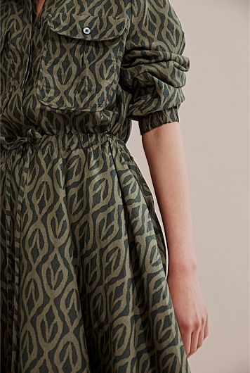 Printed Safari Dress