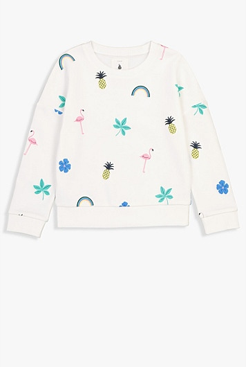 Pineapple Palm Crew Sweat