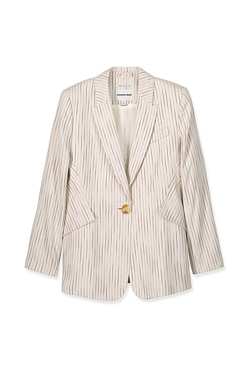 Linen Pocket Blazer