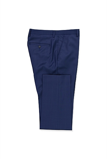 Regular Fine Windowpane Travel Pant