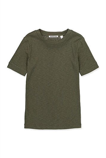 Textured Fitted T-Shirt