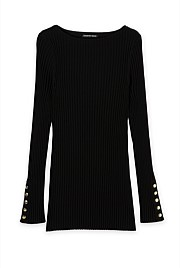 Rib Long Sleeve Knit
