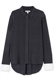 Cuff Detail Stripe Shirt