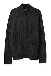 Lambswool Cable Button Through Cardigan