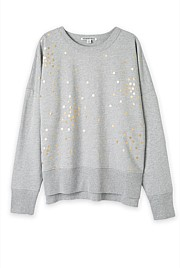 Starry Foil Print Sweat