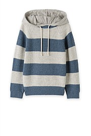 Hooded Stripe Knit