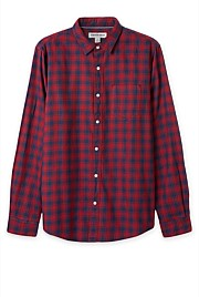Bordered Flannel Check Shirt