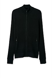 Rib Zip Through Knit