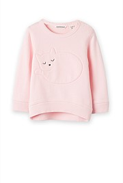 Cat Applique Sweat