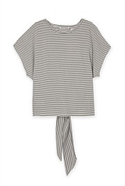 Stripe Tie Back T-Shirt