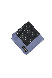 Grid Dot Pocket Square