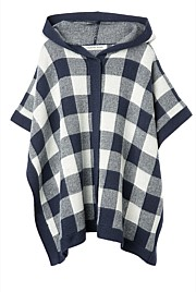 Gingham Knit Cape