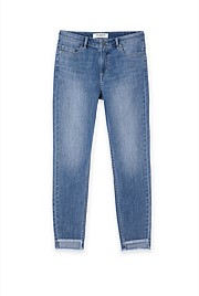 Authentic High Rise Step Hem Jean