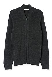 Knit Bomber Zip Through