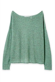 Mohair Boat Neck Knit